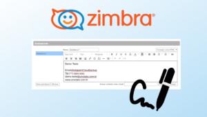 Como criar assinatura no Zimbra